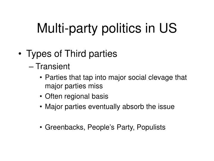 Multi-party politics in US
