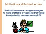 motivation and residual income