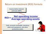 return on investment roi formula