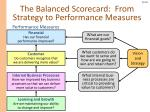 the balanced scorecard from strategy to performance measures