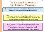 the balanced scorecard non financial measures