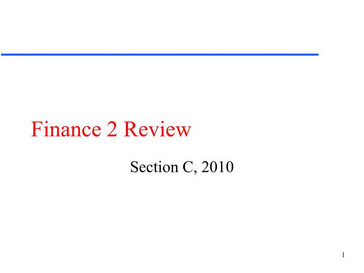 Finance 2 review