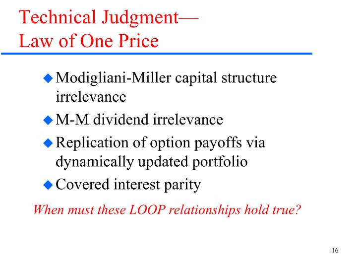 Technical Judgment—