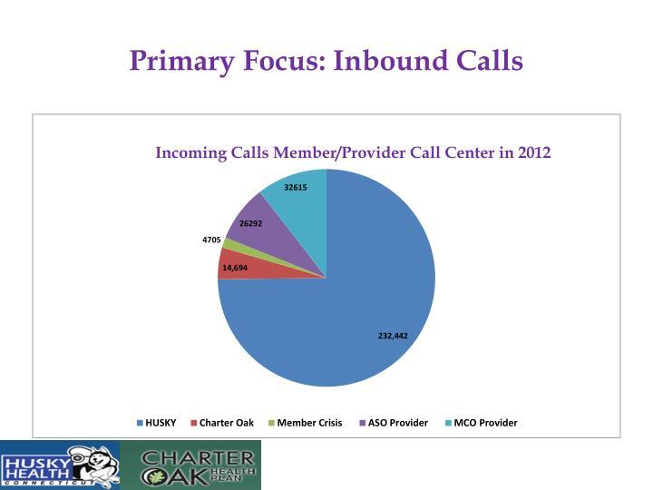 Primary focus inbound calls