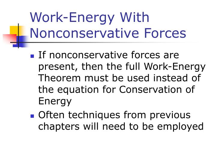 Work-Energy With Nonconservative Forces