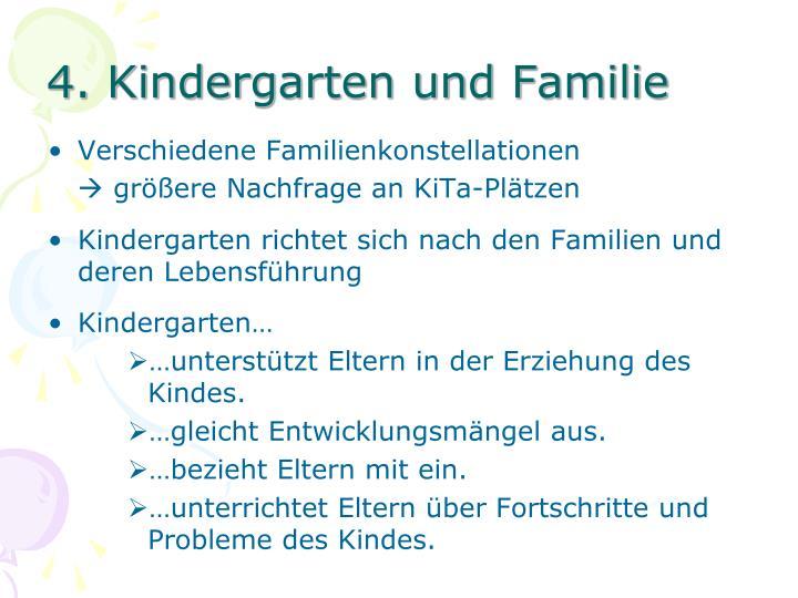4. Kindergarten und Familie