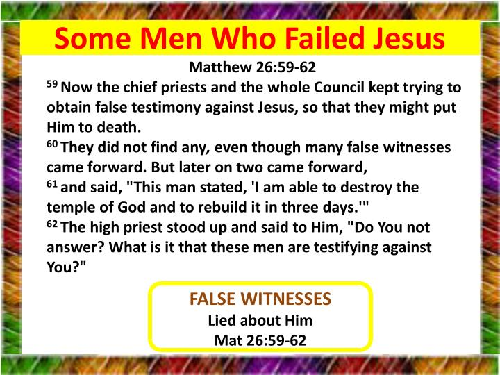Some Men Who Failed Jesus