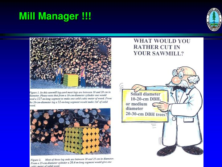 Mill Manager !!!