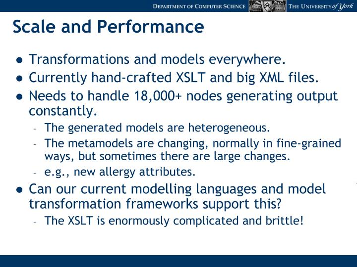 Scale and Performance