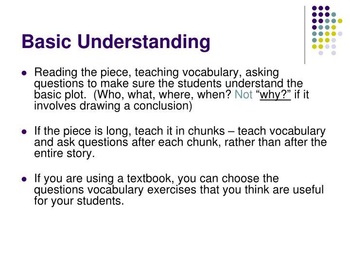Basic Understanding