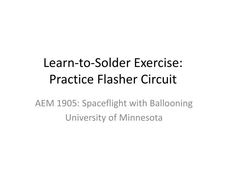 learn to solder exercise practice flasher circuit n.