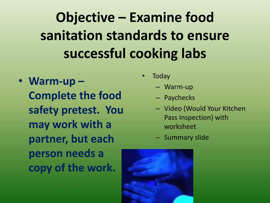 PPT - Period One - Objective – Develop Cooking Lab Skills