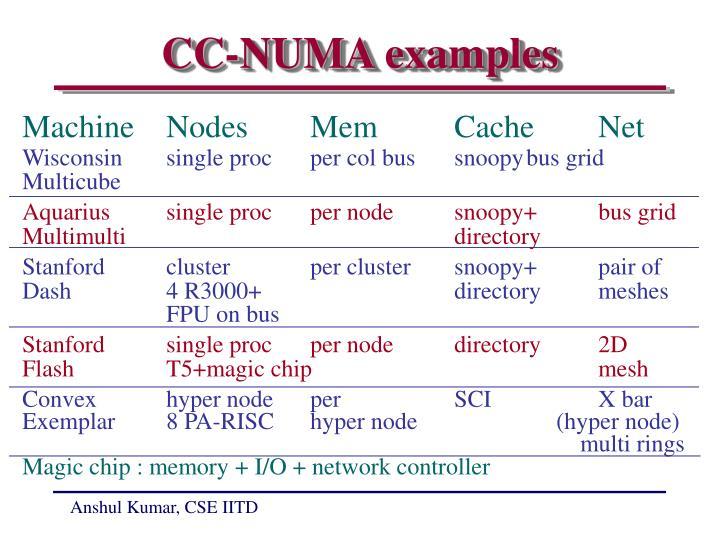 CC-NUMA examples