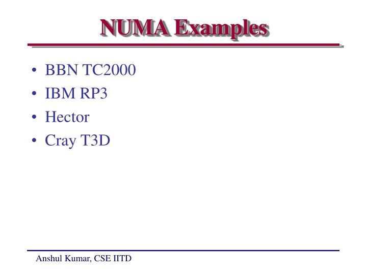 NUMA Examples