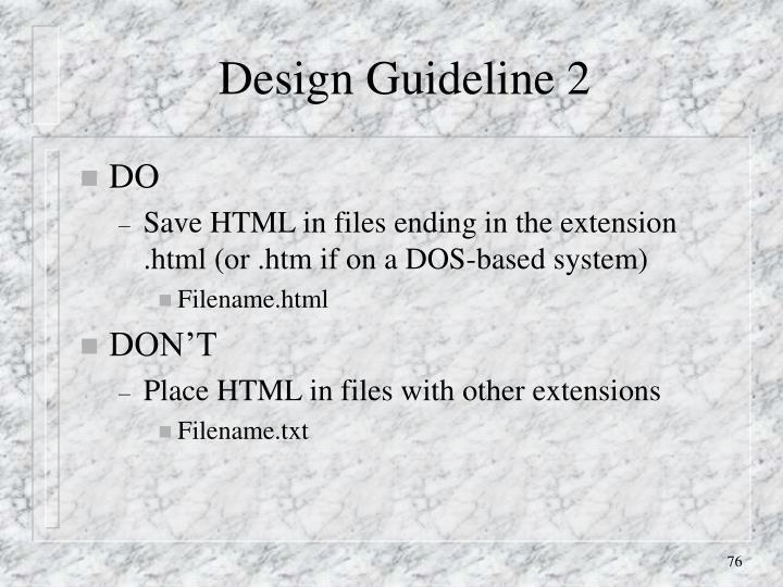 Design Guideline 2
