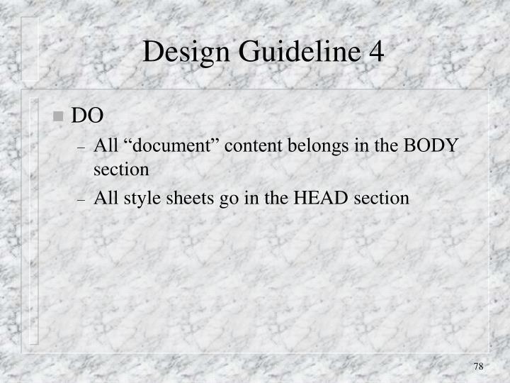 Design Guideline 4