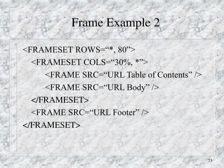 Frame Example 2