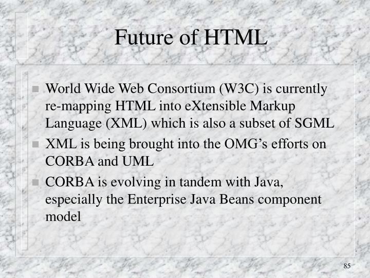 Future of HTML
