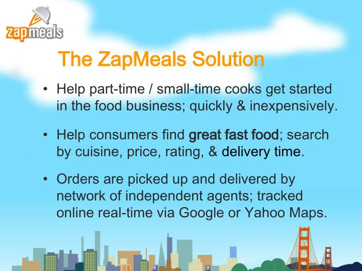 The ZapMeals Solution