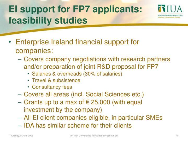 Enterprise Ireland financial support for companies: