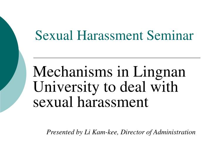 sexual harassment seminar n.