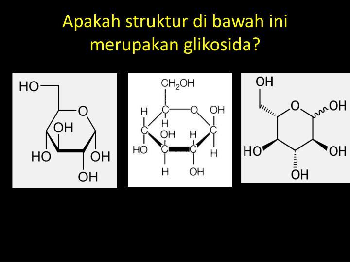 Apakah struktur di bawah ini merupakan glikosida