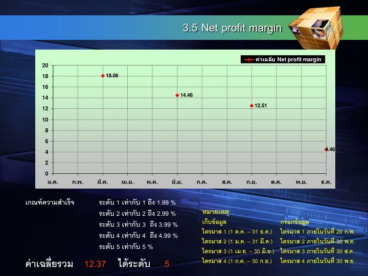 3.5 Net profit margin
