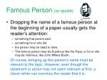 famous person or quote