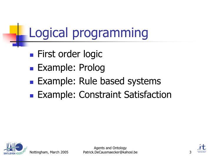 Logical programming
