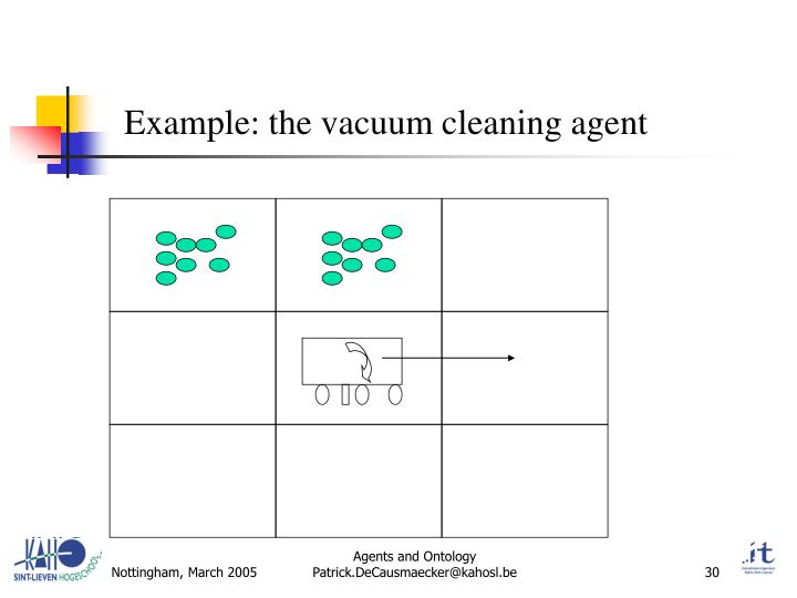 Example: the vacuum cleaning agent