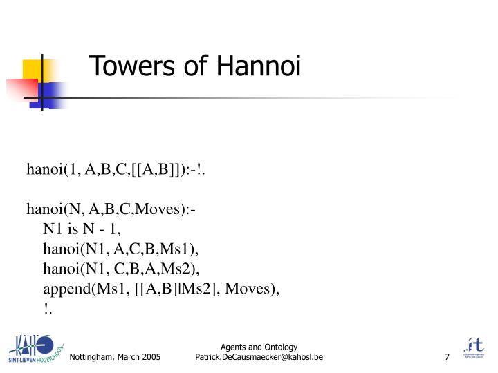Towers of Hannoi