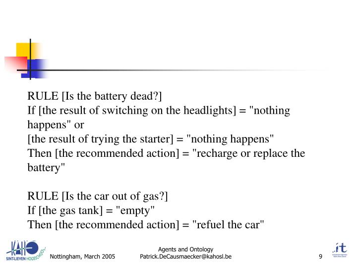 RULE [Is the battery dead?]