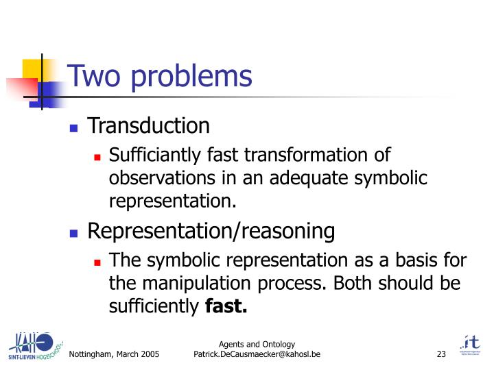 Two problems