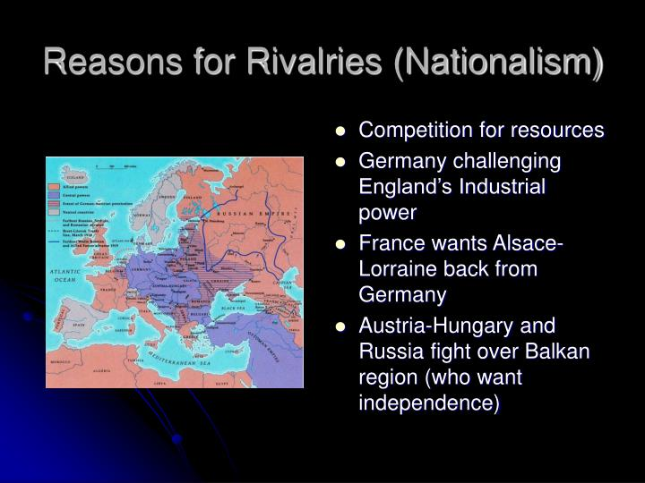 Reasons for Rivalries (Nationalism)