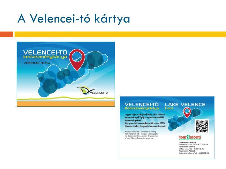 A Velencei-tó kártya