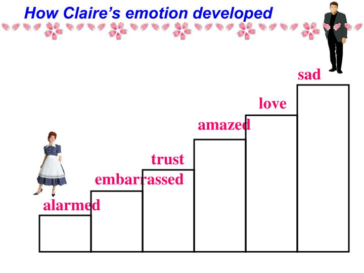 How Claire's emotion developed