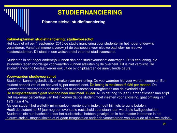 STUDIEFINANCIERING