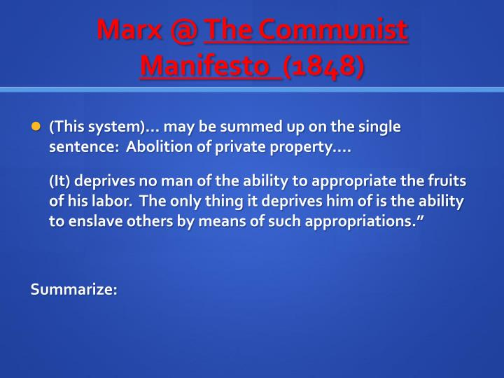 Marx @