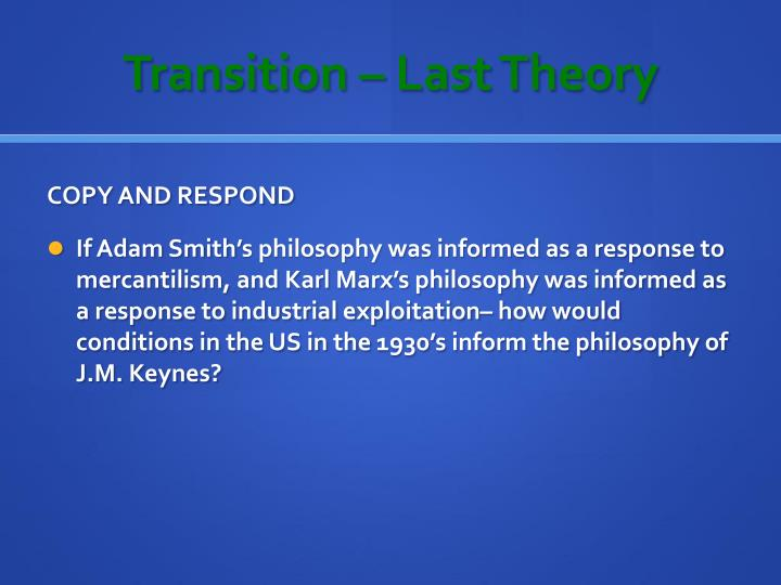 Transition – Last Theory
