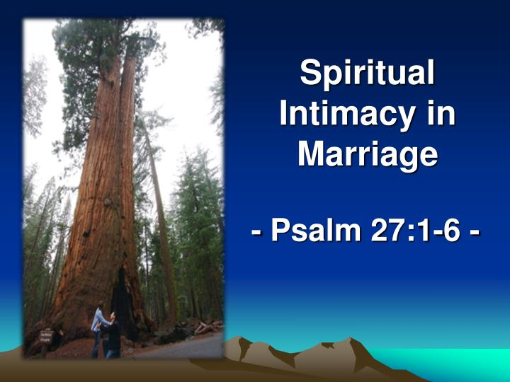 PPT - Spiritual Intimacy in Marriage PowerPoint Presentation - ID