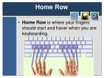 home row