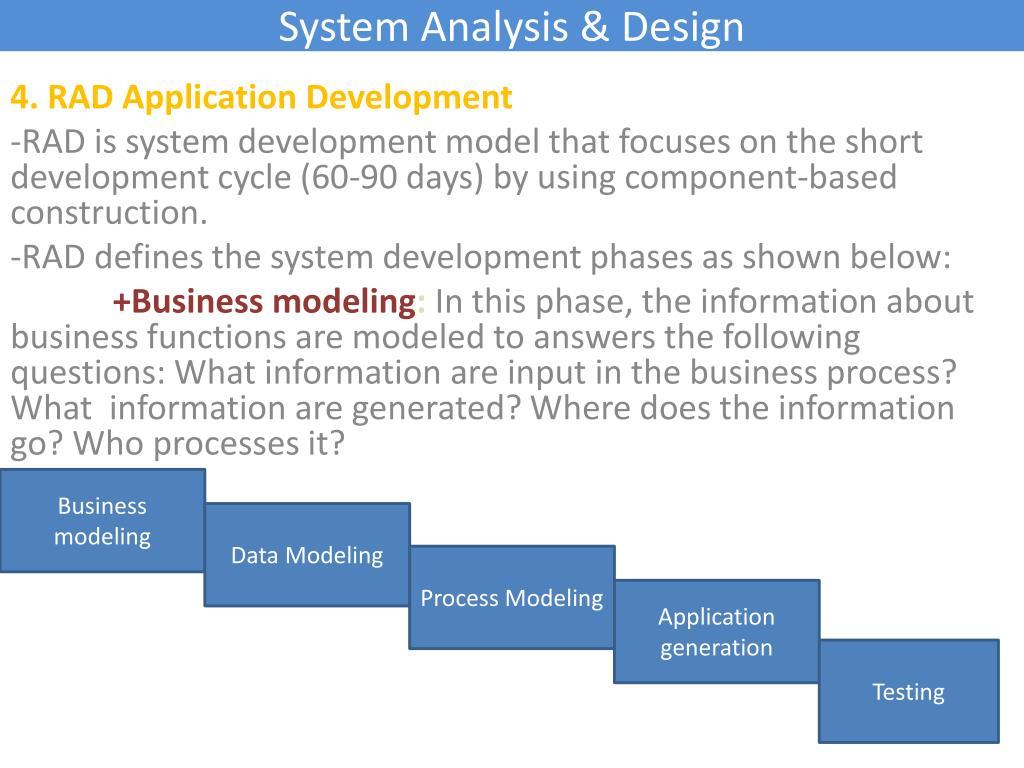 PPT - System Analysis & Design PowerPoint Presentation - ID