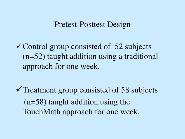 Pretest-Posttest Design