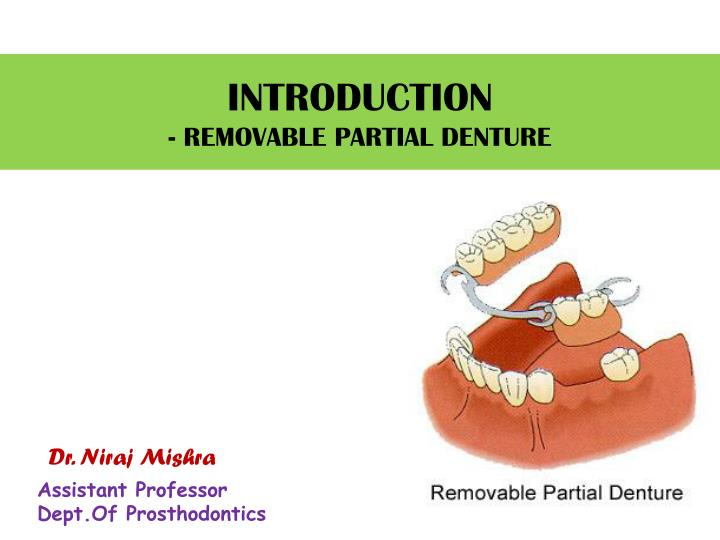introduction removable partial denture n.