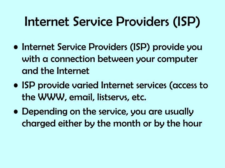 Internet service providers isp