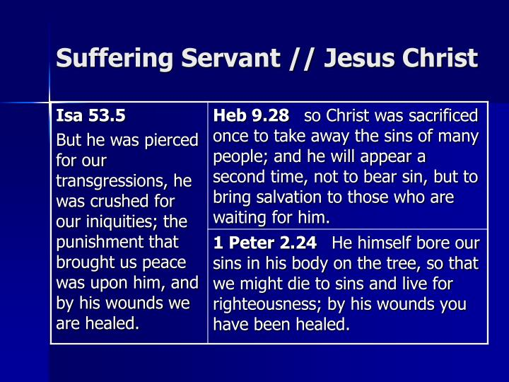 Suffering Servant // Jesus Christ