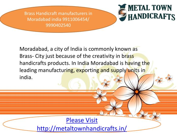 Ppt Brass Handicraft Manufacturers In Moradabad India 9911006454 Powerpoint Presentation Id