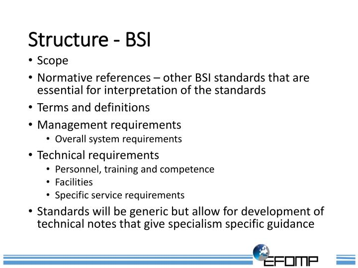 Structure - BSI