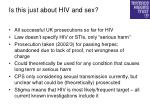 is this just about hiv and sex