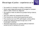 miscarriage of justice experience so far